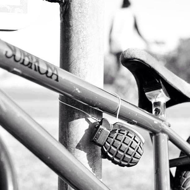 Grenade on bike, Photo: pinimg.com