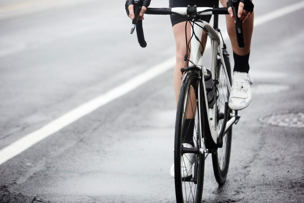 Cyclist on a road