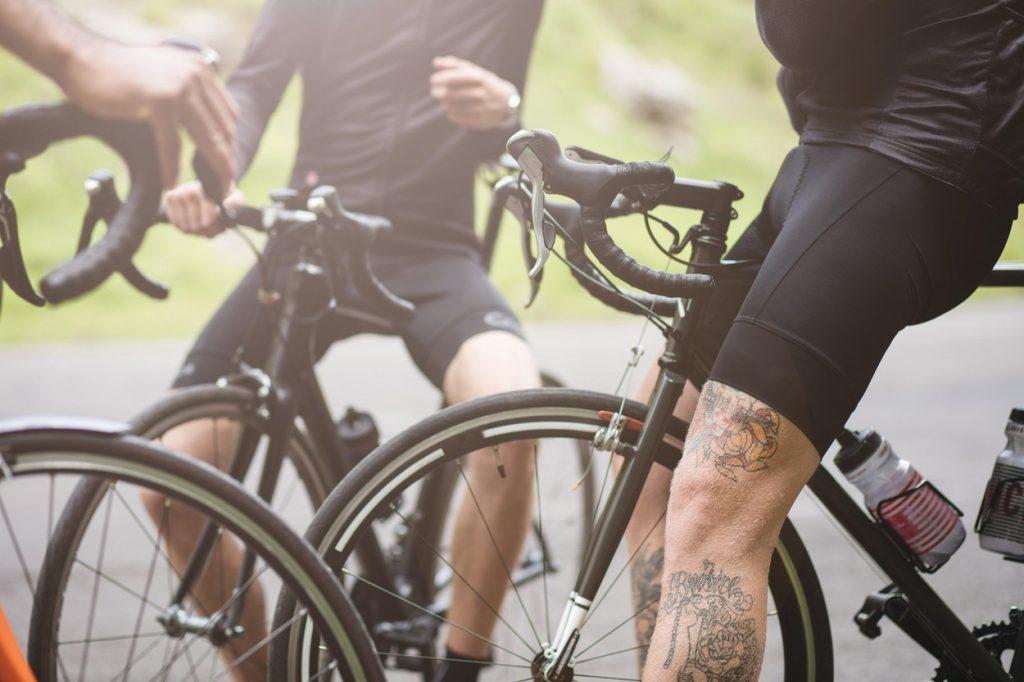 Tattooed cyclist