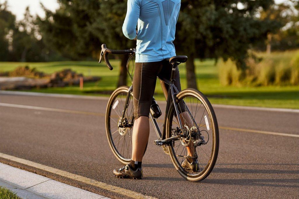 Cyclist rear view