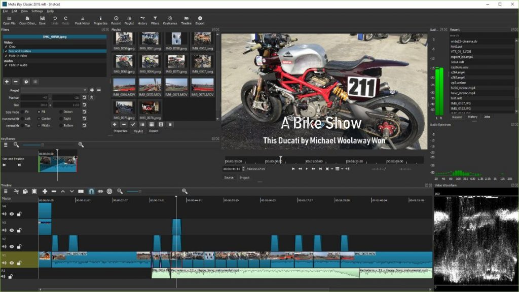 Video editing in Shotcut