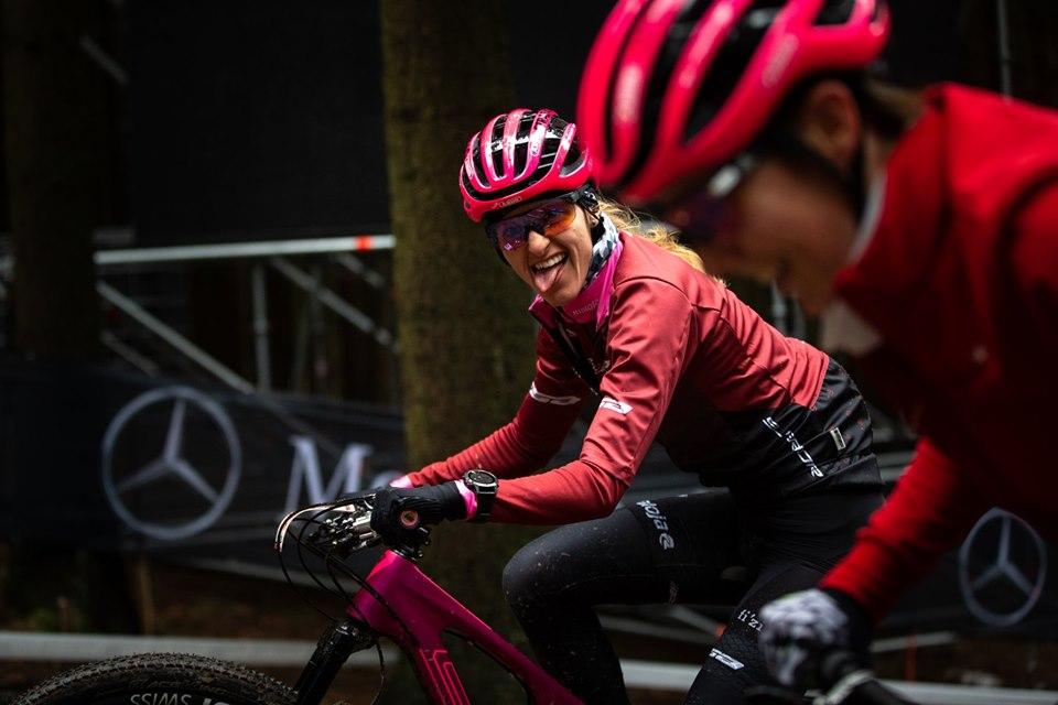 Karla Štěpánová na trati ve Vysočina Areně. Foto: UCI MTB World Cup: Nové Město na Moravě 2019