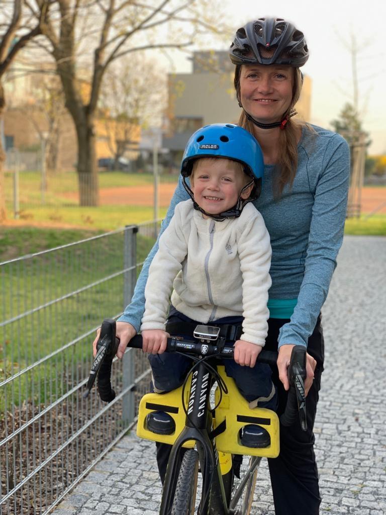 Dětská sedačka s variantou předního uchycení. Foto: Future Cycling