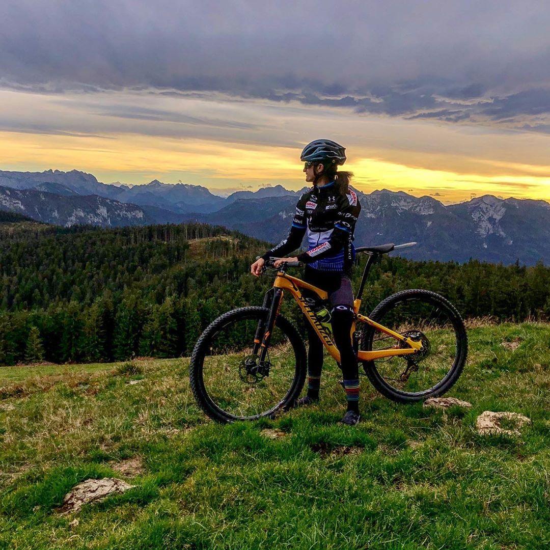 Martina Sáblíková využívá kolo v rámci každé přípravy. Foto: instagram Martiny Sáblíkové