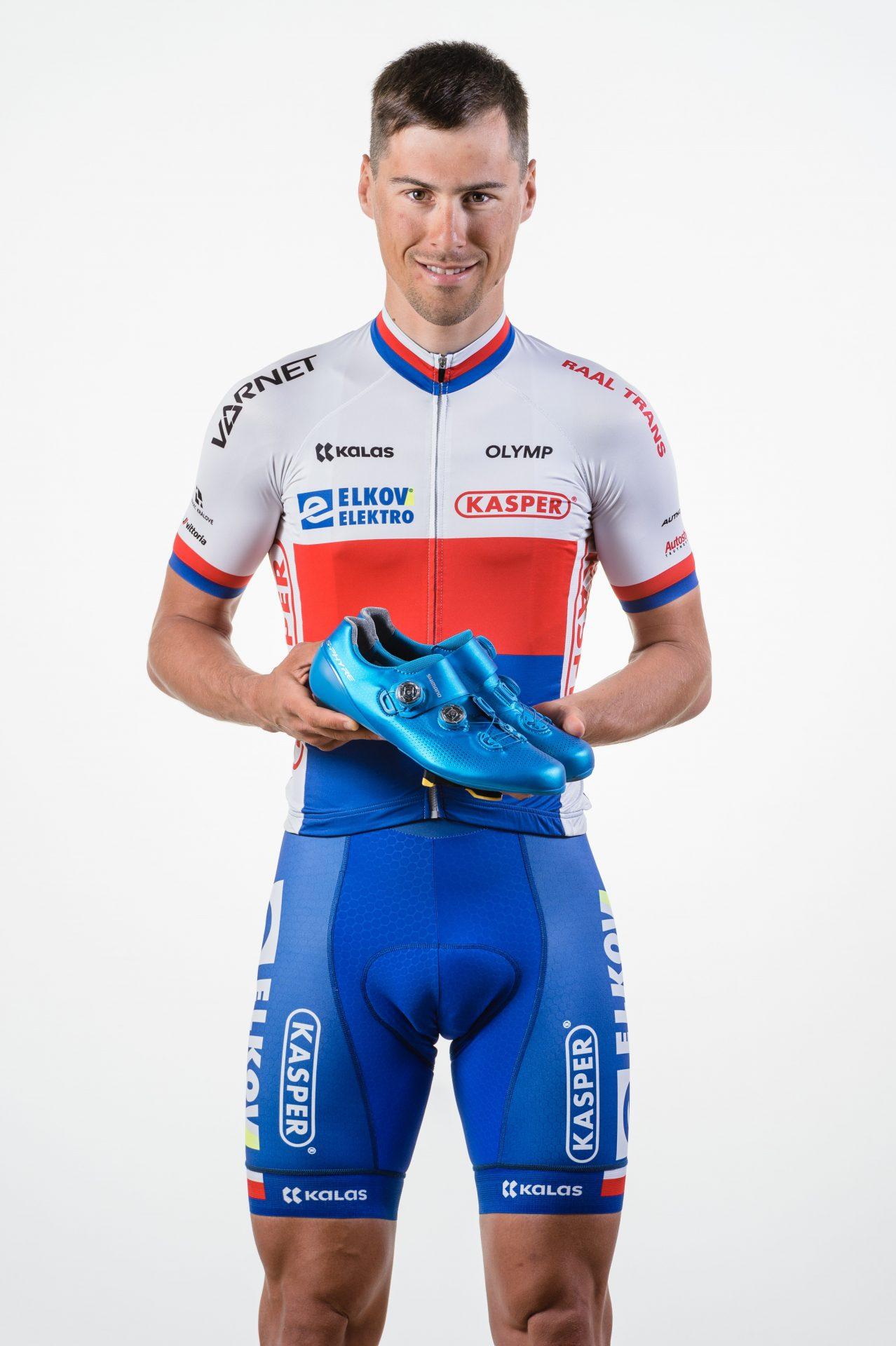 František Sisr v dresu českého cyklistického šampiona. Foto Jan Brychta/Elkov Kasper