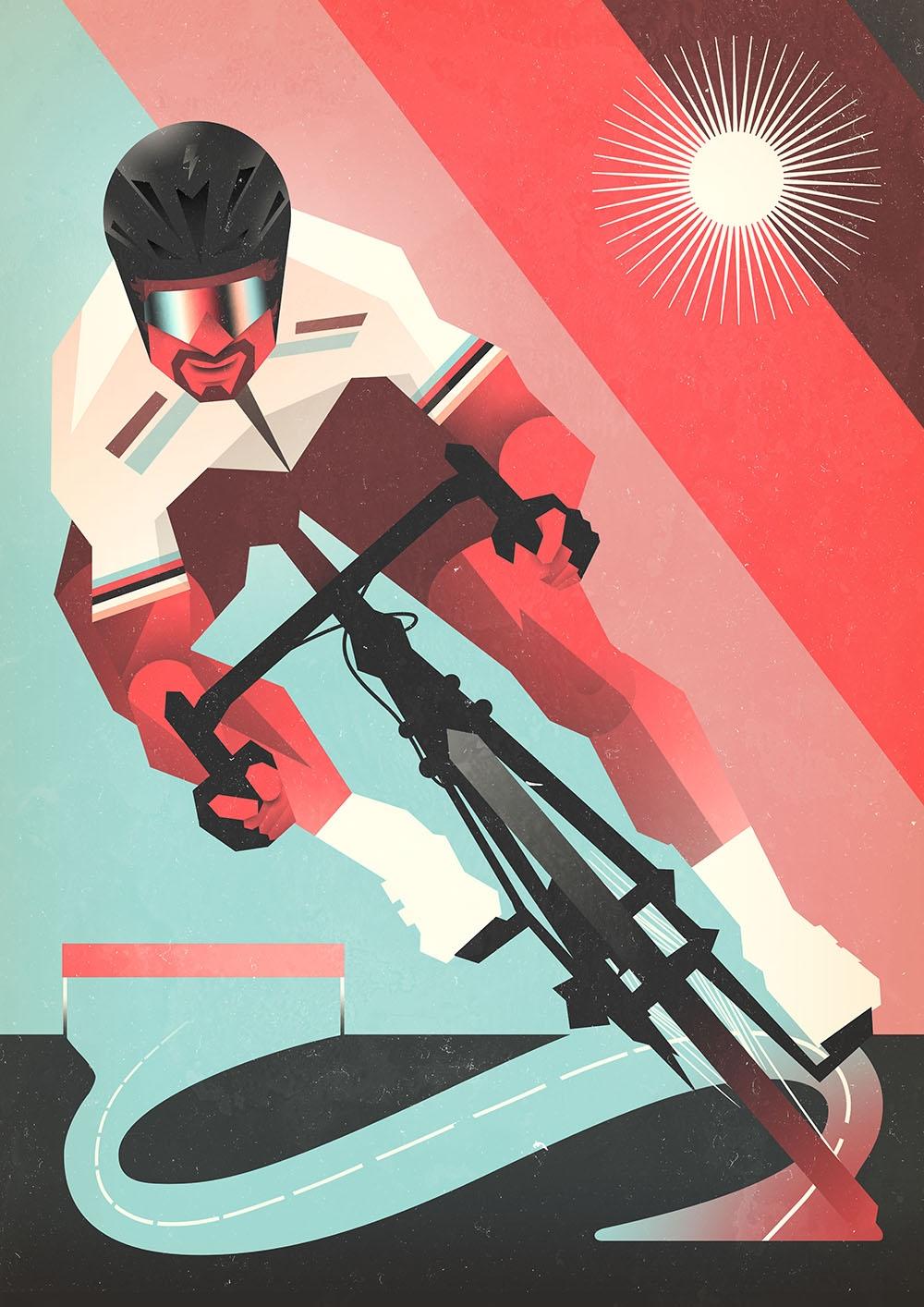 Peter Sagan na plakátu ilustrátora Lukáše Tomka. Foto: archiv Tomski&Polanski