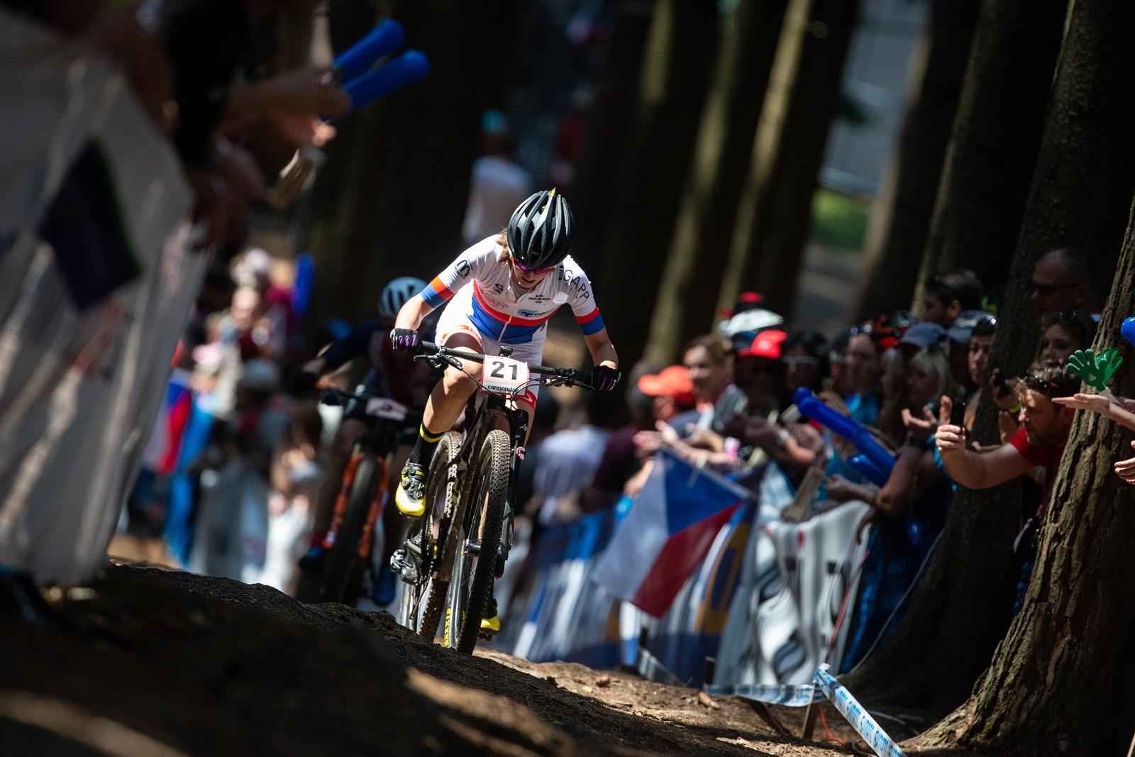 Jitka Čábelická při závodě světového poháru v Novém Městě na Moravě. Foto: Michal Červený