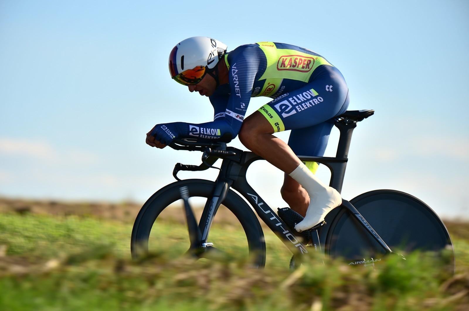 Jan Bárta se v časovce na Tour de France zaskvěl třetí příčkou. Foto: Jan Brychta