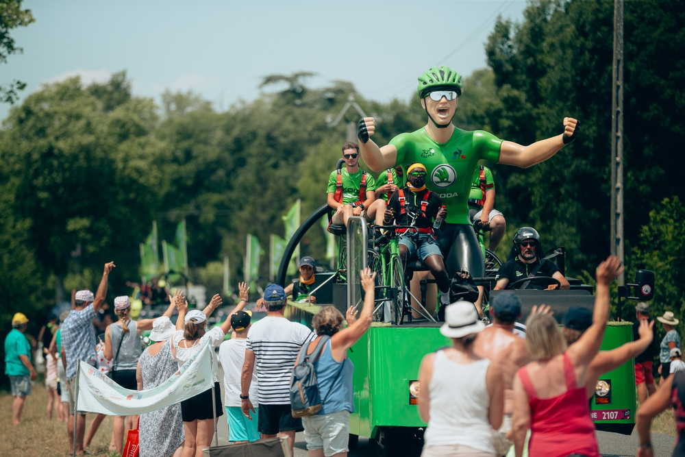 Alegorické vozy jsou nedílnou součástí reklamní karavany Tour de France. Foto: A.S.O./Thomas Maheux