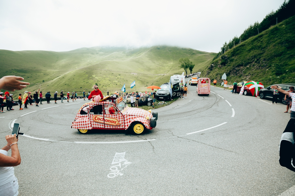 Reklamní karavana. Foto: A.S.O./Thomas Maheux