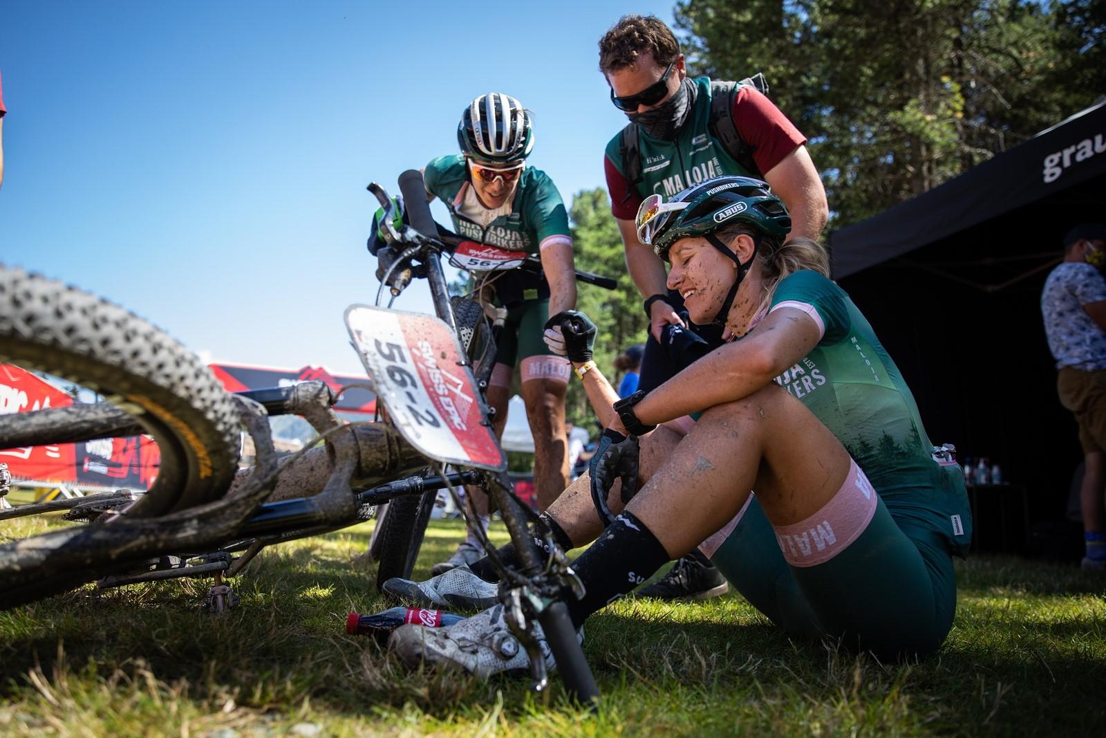 Karla Štěpánová po jedné z etap Swiss Epic 2020. Foto: Michal Červený
