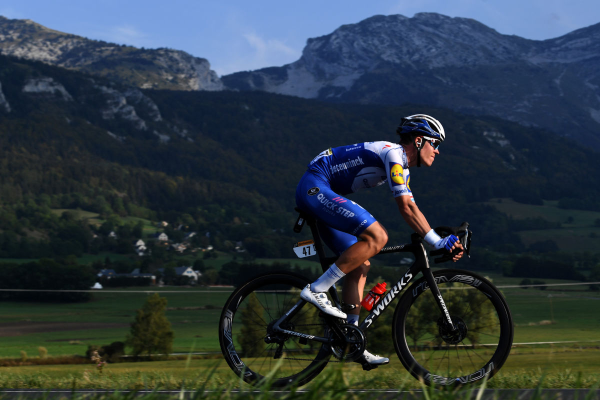 Bob Jungels z týmu Deceuninck Quick Step v horské etapě Tour de France 2020. Foto: Tim de Waele/Getty Images/Deceuninck QUick Step