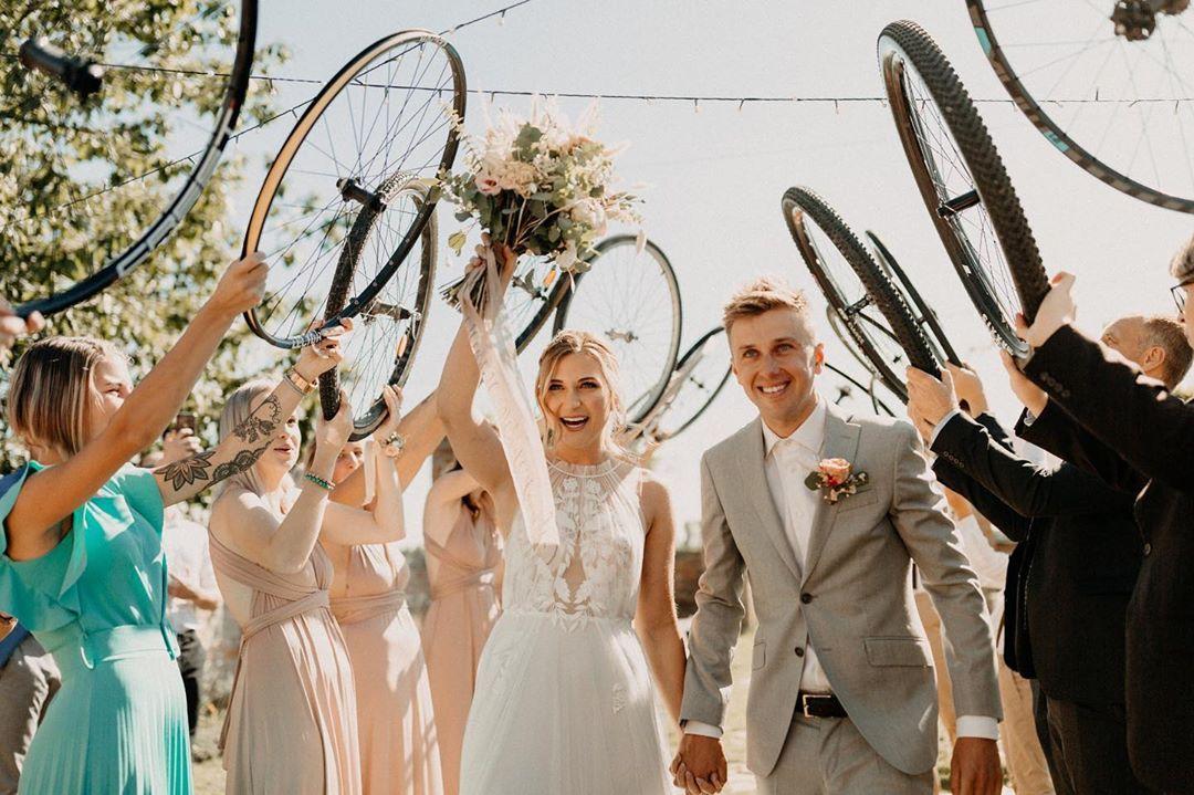 Ondřej Cink s manželkou Pavlínou během svatebního dne. Foto: instagram