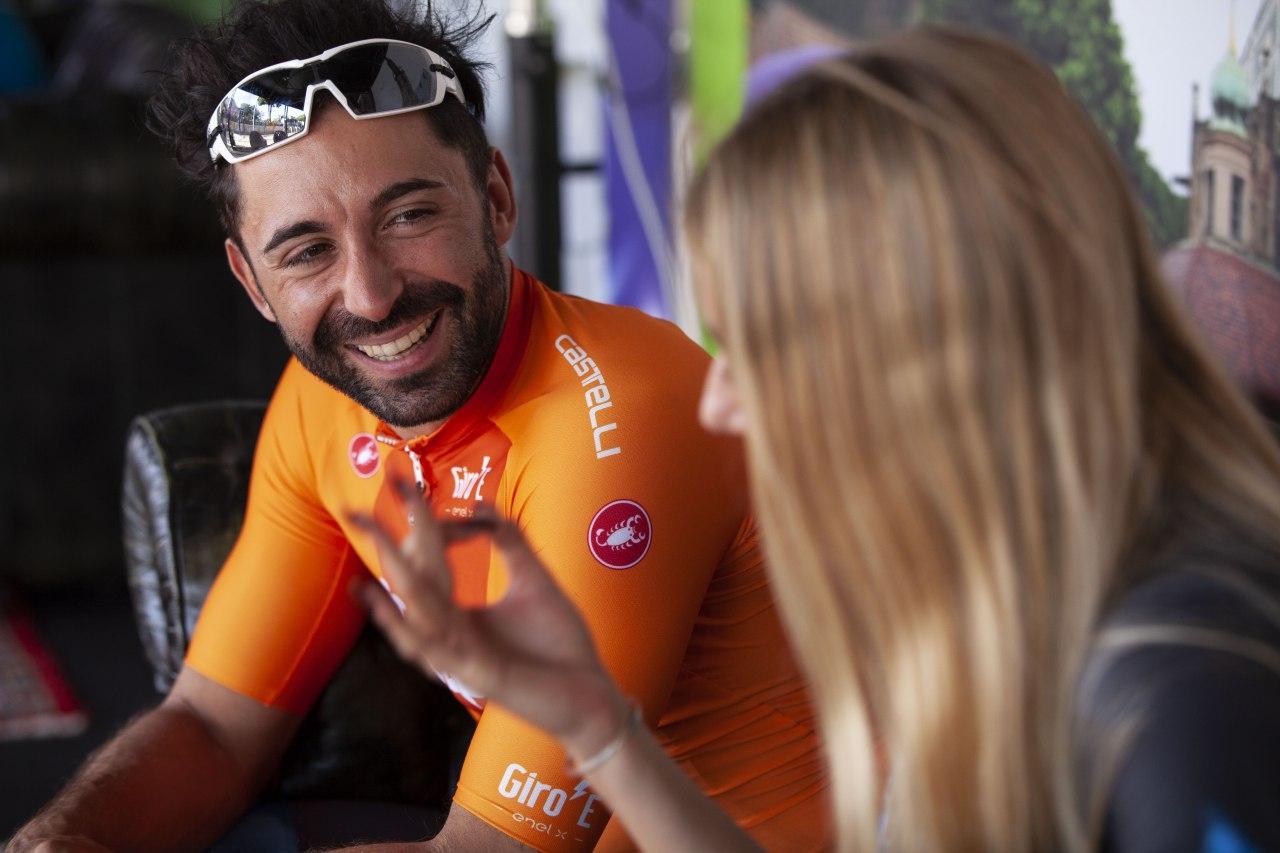 Italský cyklista Moreno Moser. Foto: LaPresse/Giro´E