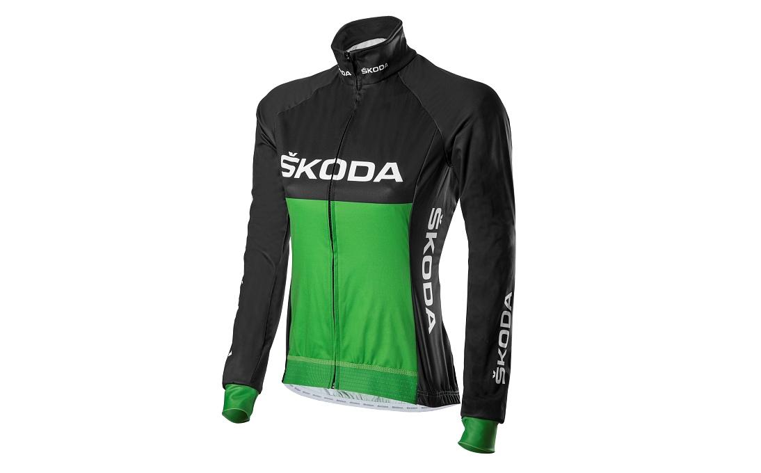 Špičková dámská cyklistická bunda z membránového materiálu v kombinaci s prodyšnými zády dokonale ochrání a zároveň poskytne tepelný komfort.