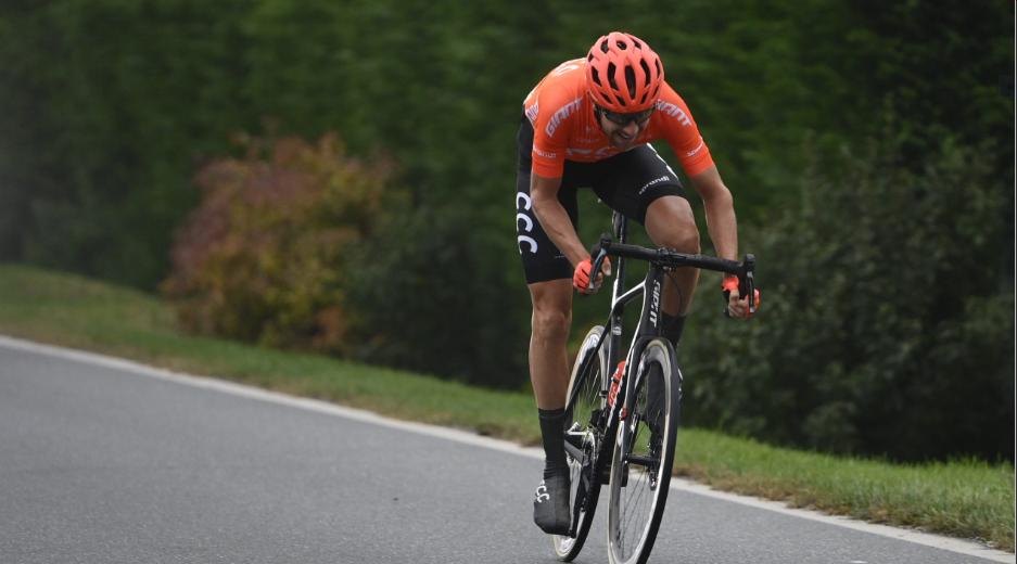 Josef Černý, cyklista týmu CCC, v úniku během vítězné 19. etapy italského Gira. Foto: girodiitalia.it