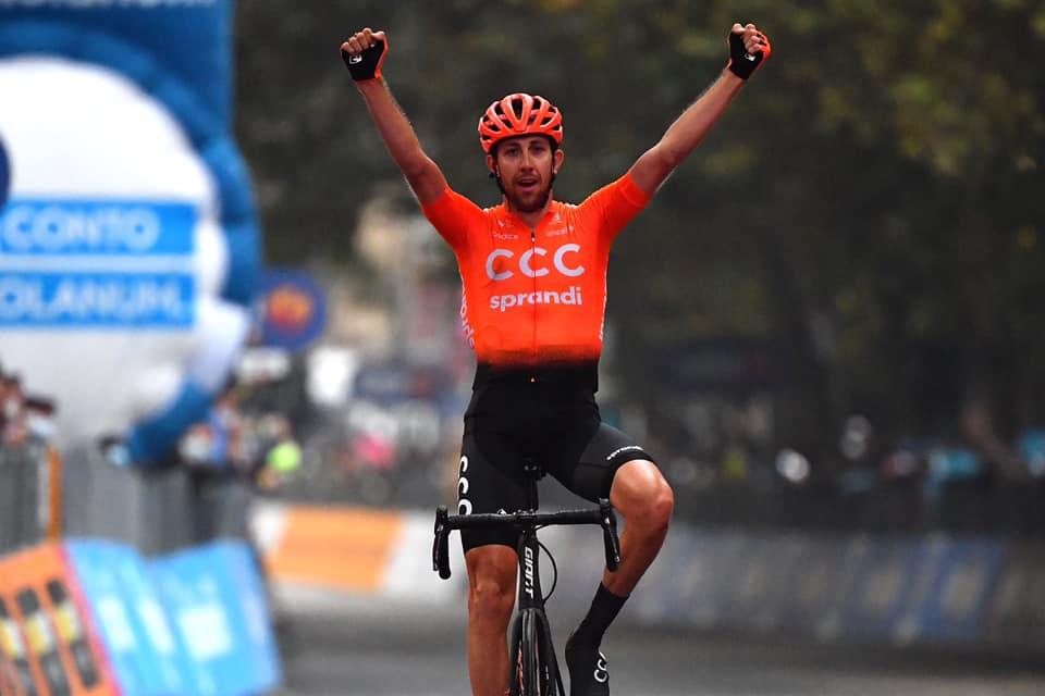 Josef Černý z týmu CCC slaví triumf v 19. etapě italského Gira. Foto: facebook CCC