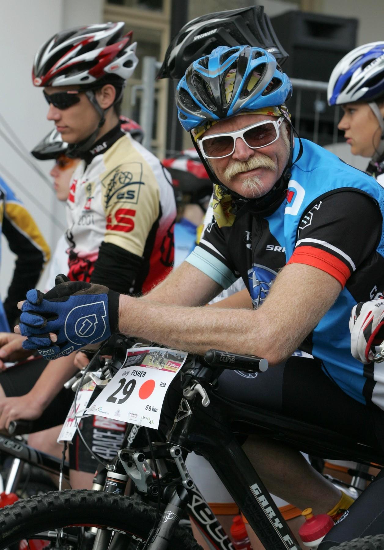 Gary Fisher na startu českého bikového závodu Author Šela Marathon u Helfštýna v roce 2009. Foto: Luděk Peřina/Mafra/profimedia