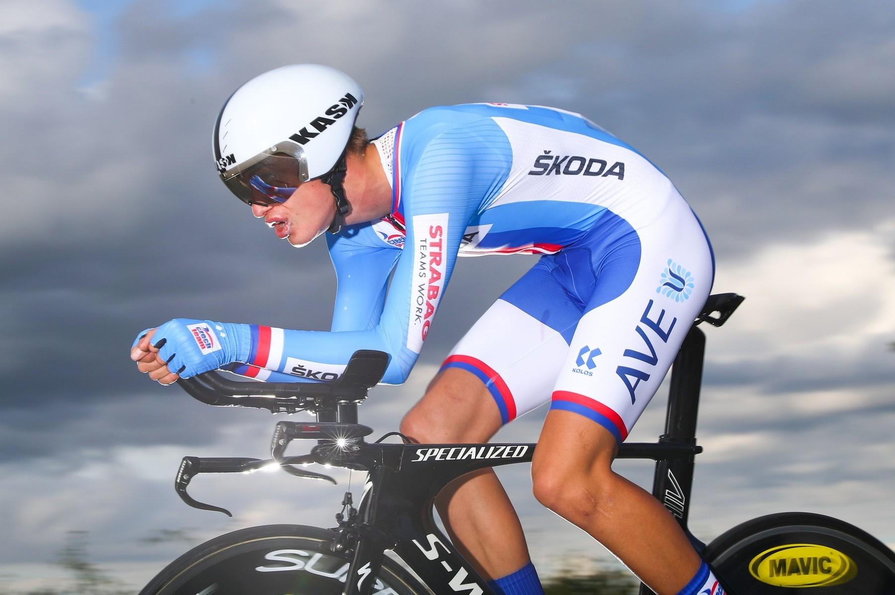 Mathias Vacek při vítězné jízdě v časovce na mistrovství Evropy ve Francii. Foto: profimedia