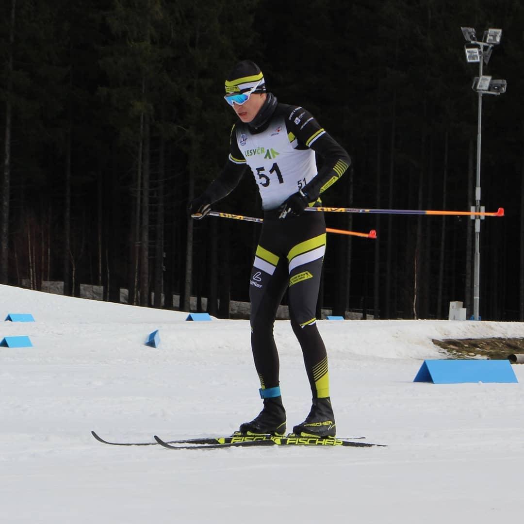 Mathias Vacek při letošním šampionátu juniorů v klasickém lyžování. Foto: instagram Mathiase Vacka