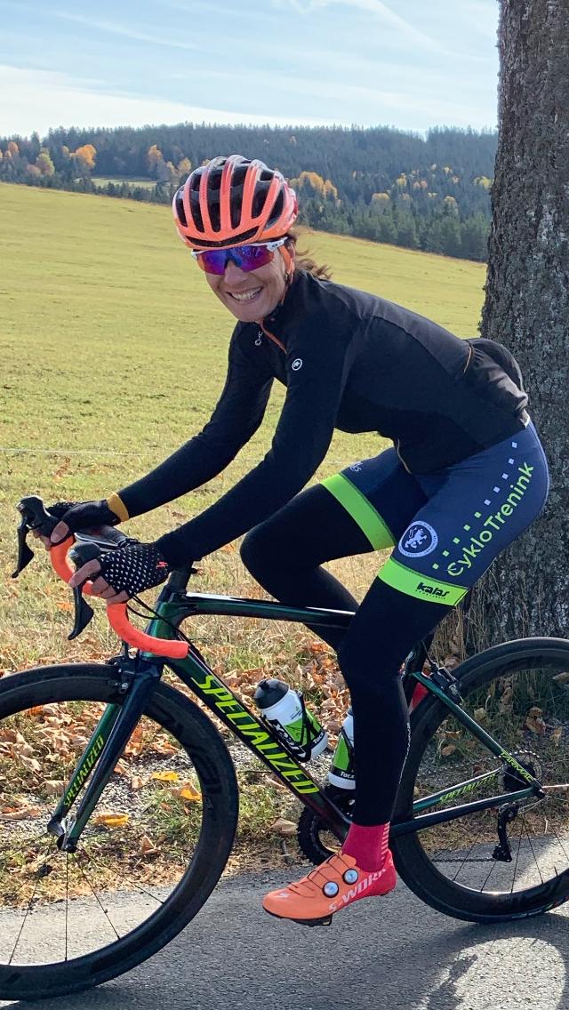 Jana Žídeková ze sedmdesáti procent trénuje na silničním kole. Foto: archiv J. Žídekové