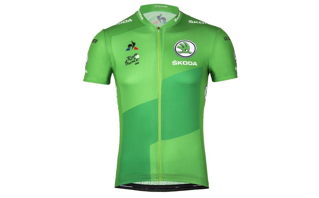 Replika zeleného dresu pro vítěze bodovací soutěže Tour de France může být skvělým dárkem. Foto: skoda-auto.cz