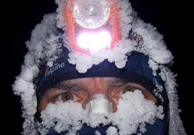 Jan Kopka při cestě napříč Aljaškou.