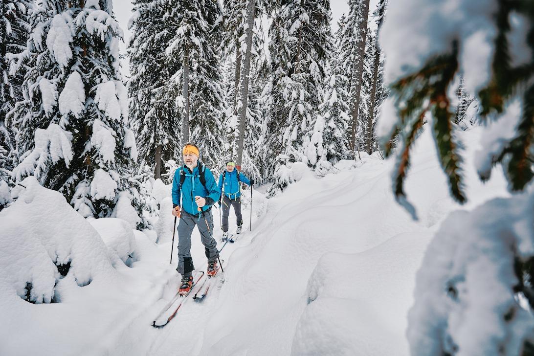 Jiří Langmajer se na skialpinismus vrhnul během nynější zimy, ve čtyřiapadesáti letech. Foto: Tomáš Binter