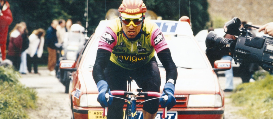 Luboš Lom v legendárním úniku na Paříž-Roubaix. Foto: