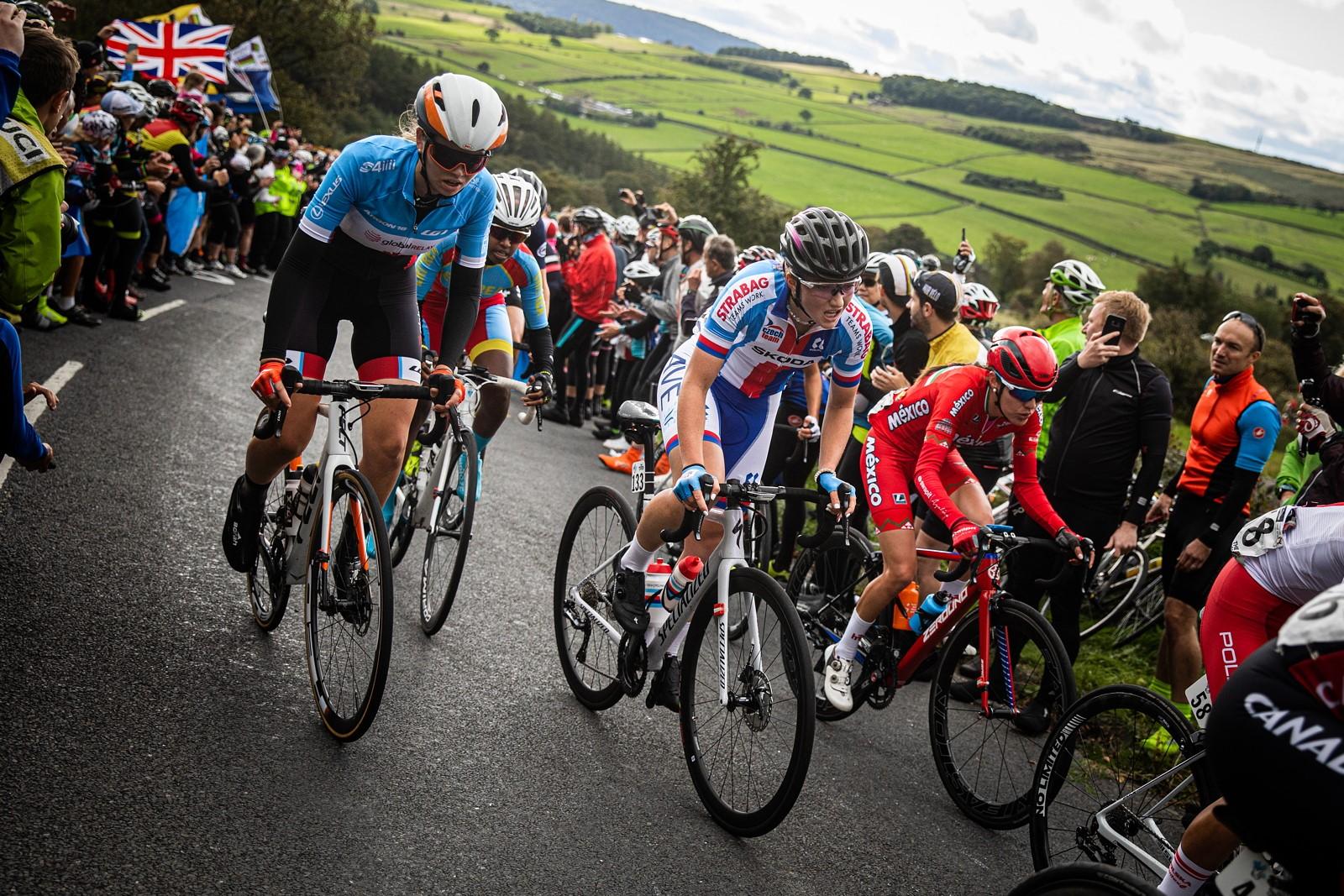 Tereza Neumannová na mistrovství světa v silniční cyklistice 2019. Foto: Michal Červený