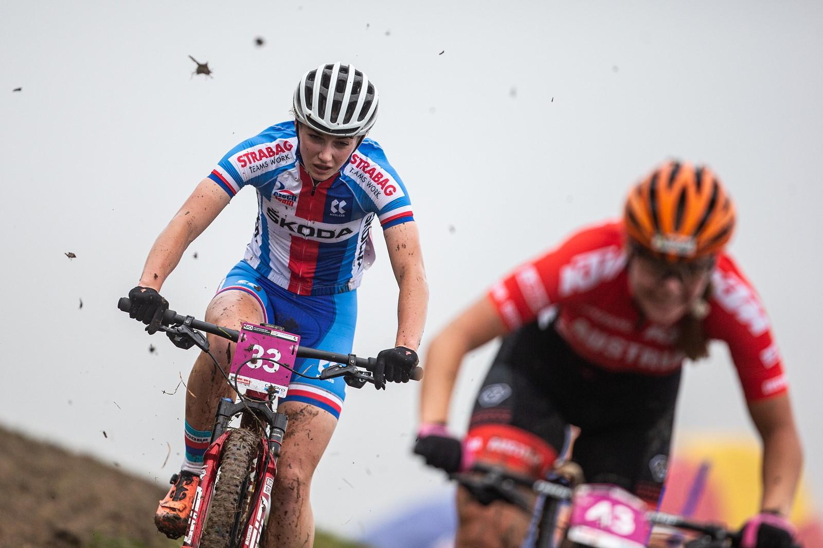 Tereza Neumannová ještě na horském kole při mistrovství světa 2020. Foto: Michal Červený