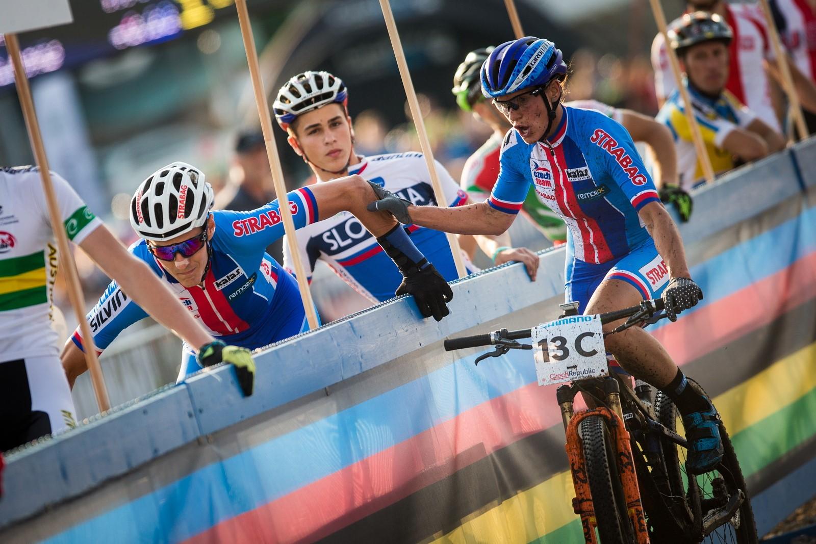 Kateřina Nash při závodě horských kol na mistrovství světa. Foto: Michal Červený