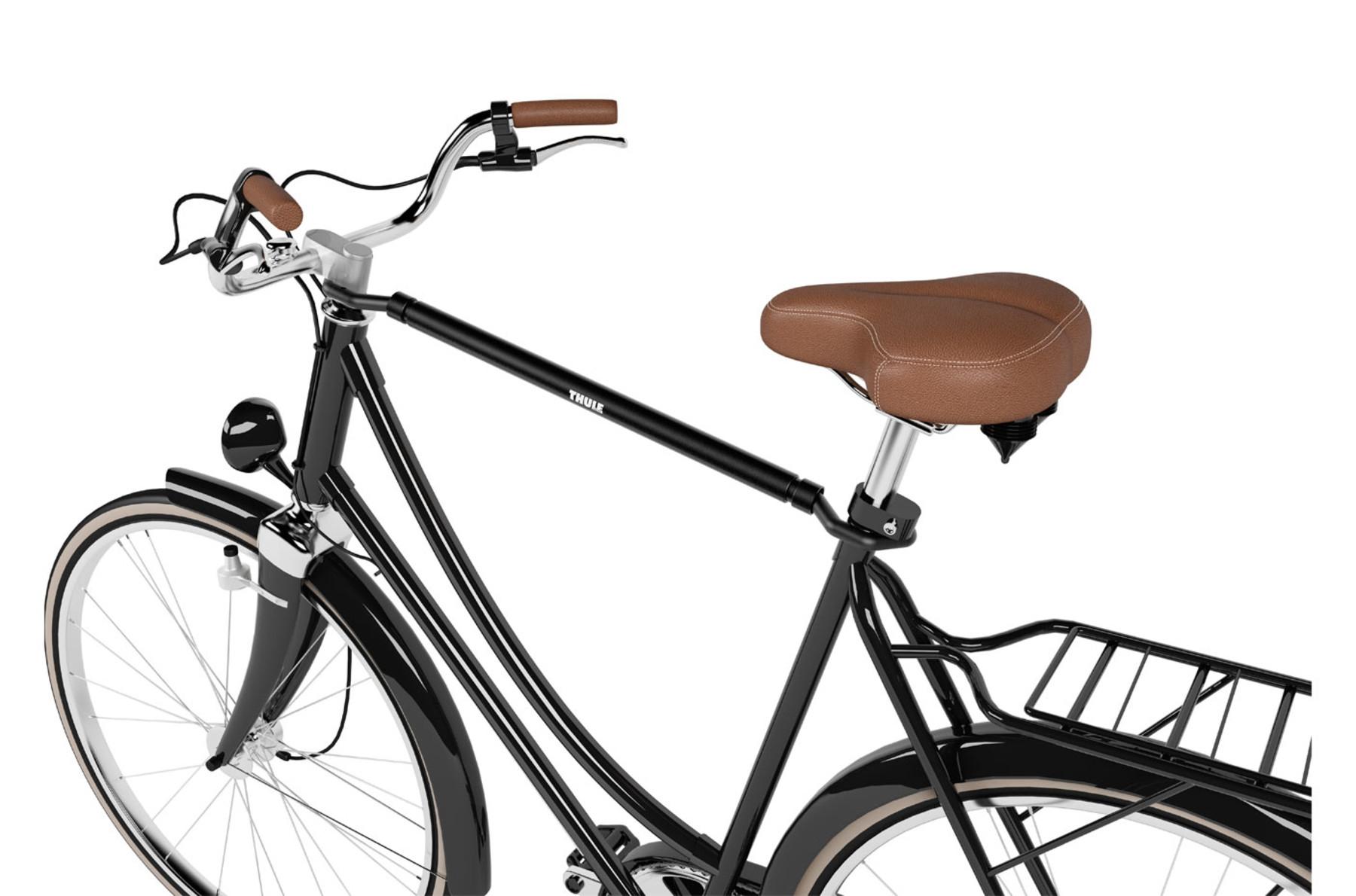 Nosič jízdního kola na tažné zařízení lze dovybavit adaptérem.