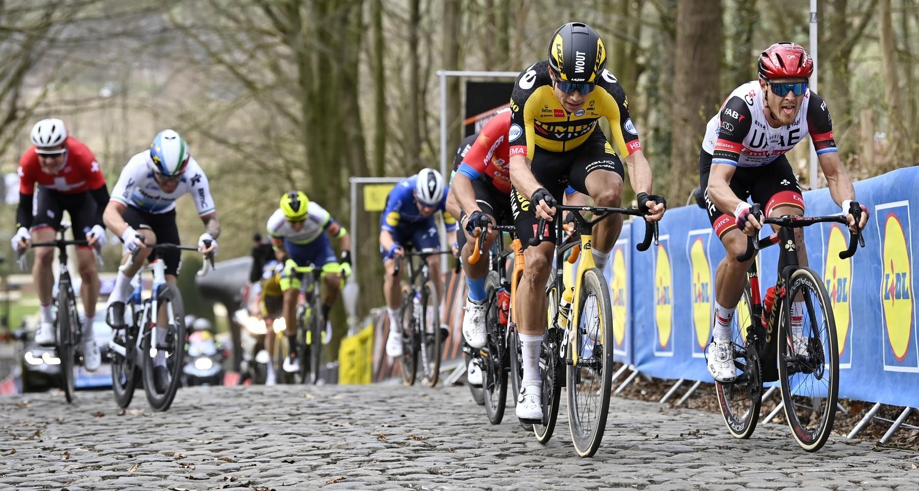 Wouv van Aert se žena za vítěztvím v klasice Gent Wevelgem. Foto: profimedia