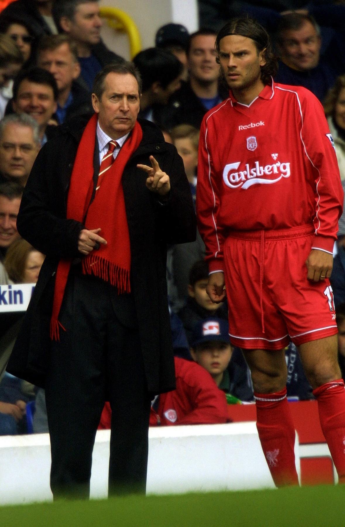 Patrik Berger a legendární trenér Liverpoolu Gerard Houlier. Foto: profimedia