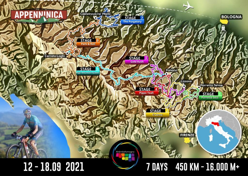 Italská mise, respektive trasa, která čeká na čtveřici odvážlivců.
