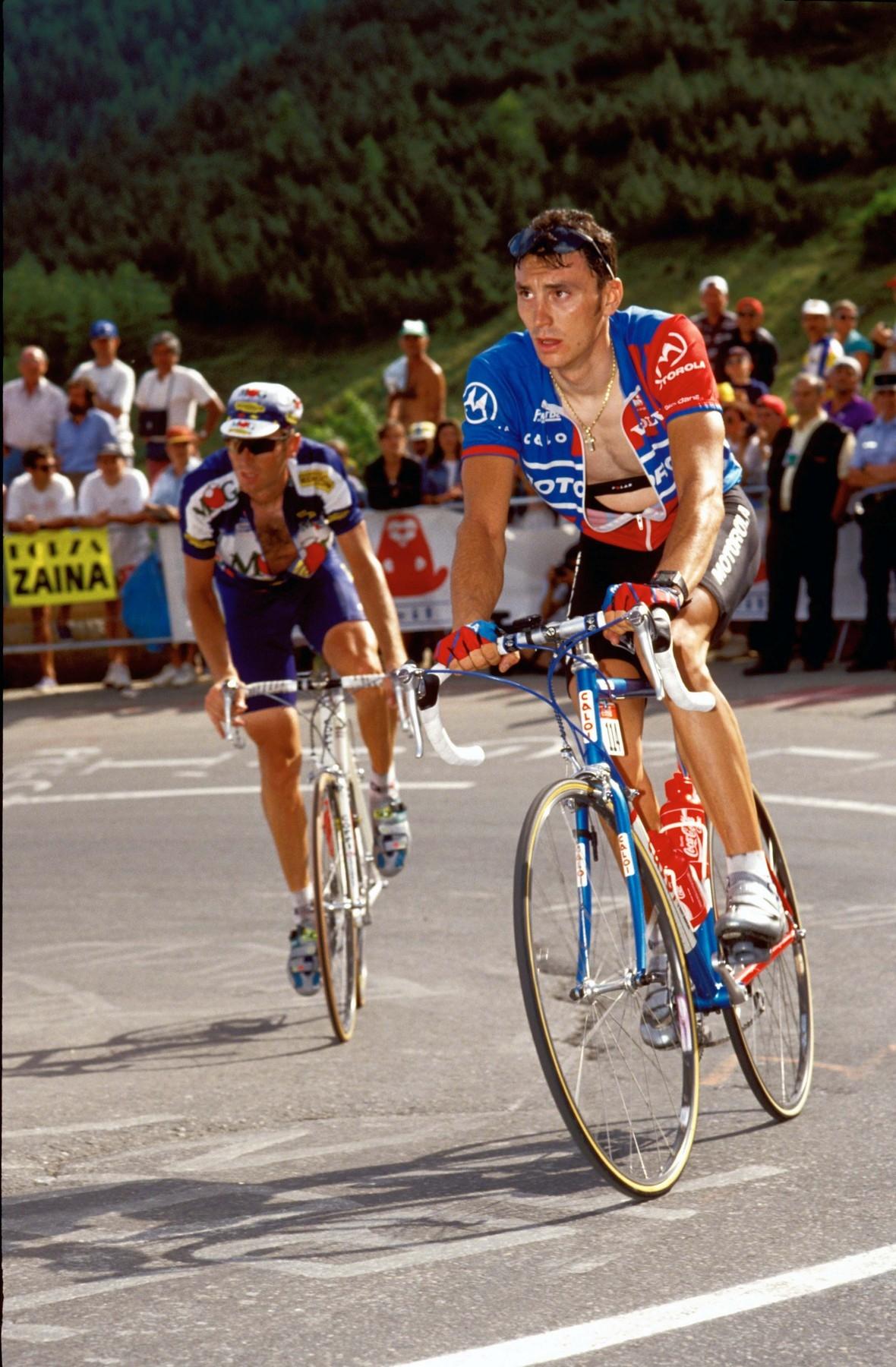 Fabio Casartelli na jednom z posledních snímků před nehodou na Tour de France.