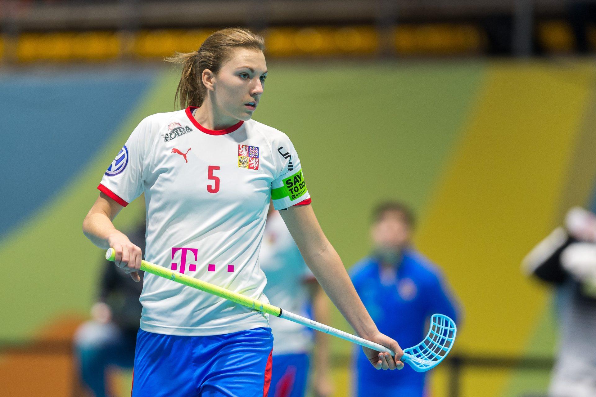 Eliška Krupnová, elitní česká florbalistka, která byla vyhlášena nejlepší hráčkou světa.