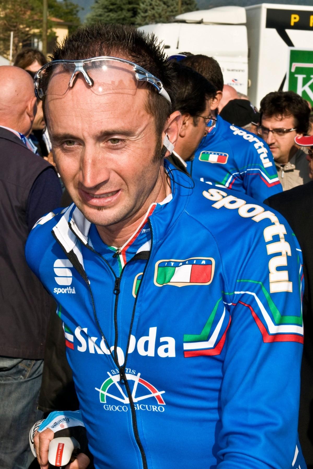 Davide Rebellin v dresu italského národního týmu na mistrovství světa 2008. Foto: profimedia (3x)