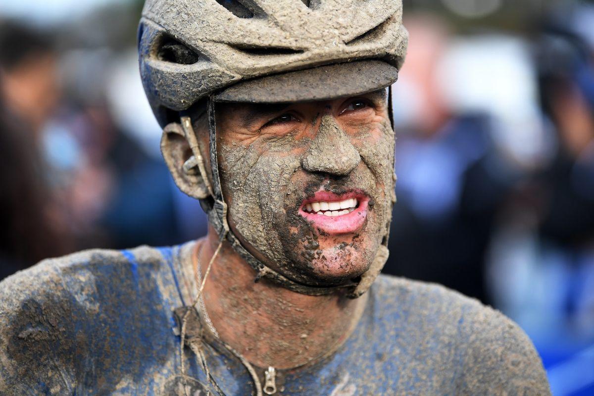 Zdeněk Štybar v cíli závodu Paříž-Roubaix 2021. Foto: Tim de Waele/Getty Images/Deceuninck Quick Step