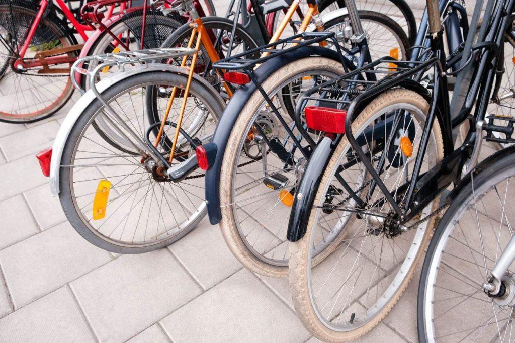 Bikes in the street