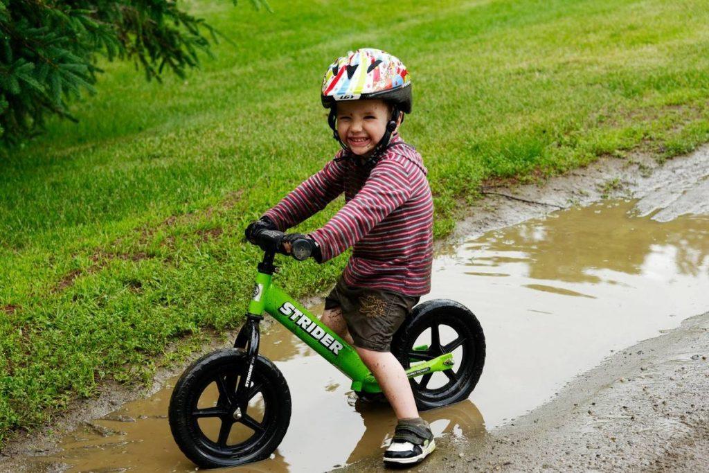 Kid on a bike
