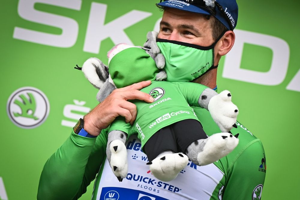 Cavendish in Green Jersey