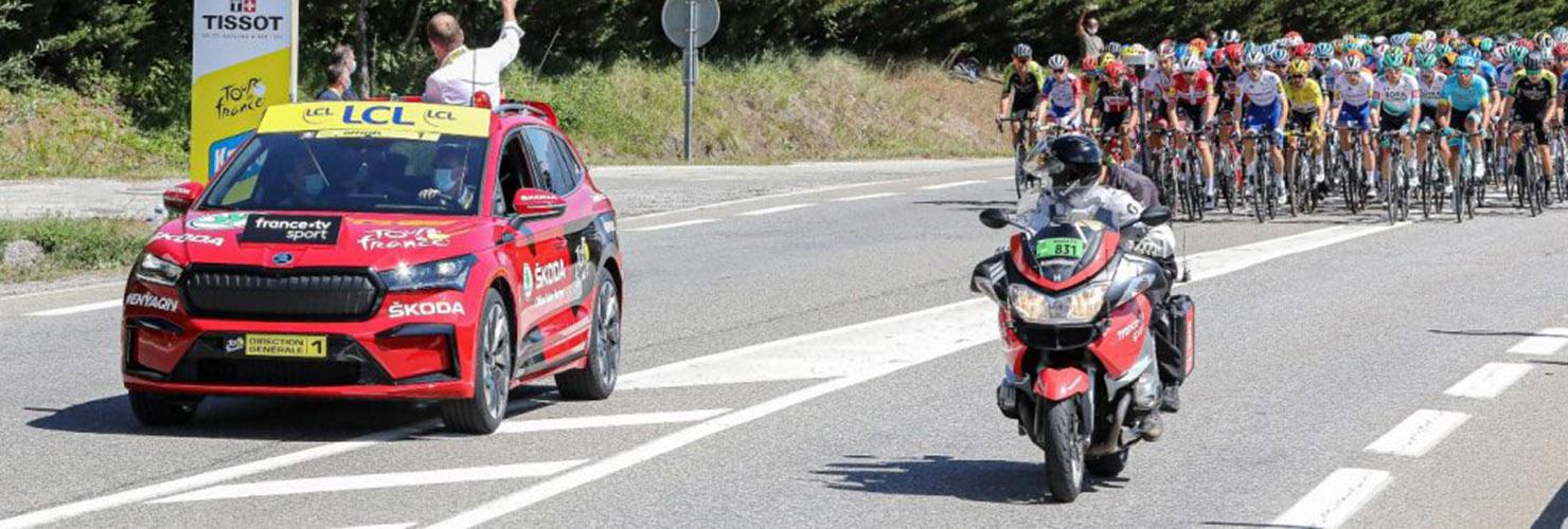 ENYAQ iV at the Tour de France