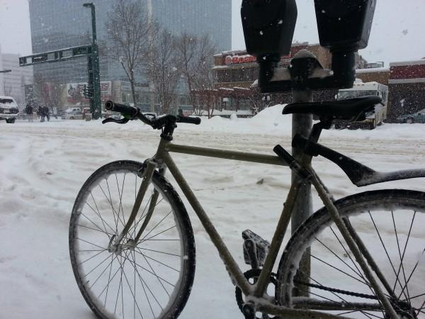 Jaylene Denton's fixed-gear bicycle