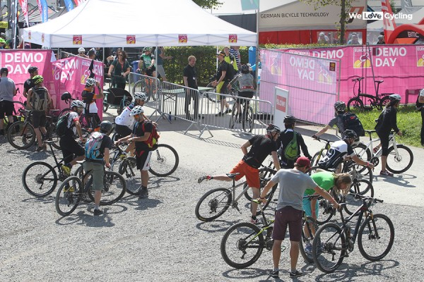 Demo Day on Eurobike 2015 was crowded with journalists testing the bikes, Photo: WeLoveCycling