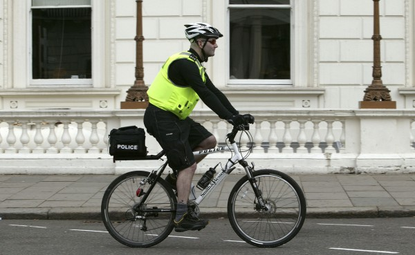 Policeman on a bicycle