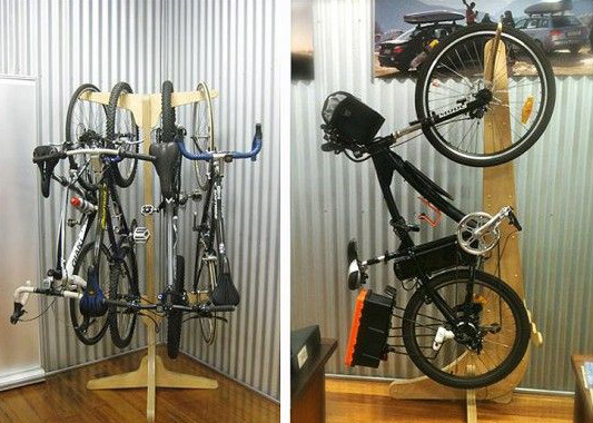 Bike rack at its best.