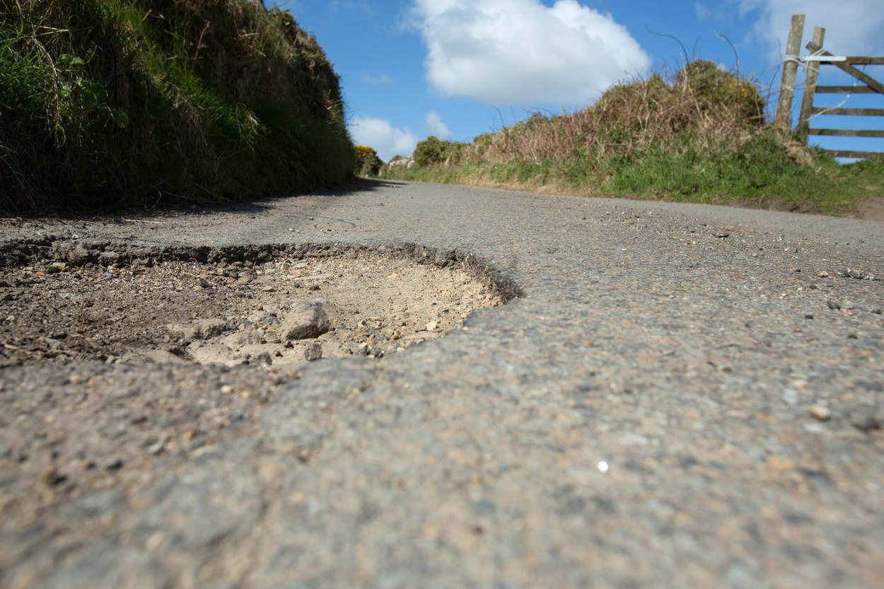 Potholes can be more than a nuisance. They can be a danger to cyclists and others.