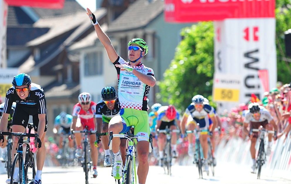 And here he is at the sixth stage of the Tour de Suisse in 2012.